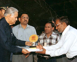 Mr. Kamal Sharma(M.D.) Received First Award From Shri Babu Parmanand